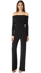 Norma Kamali Cowl Neck Jumpsuit Black