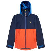 Polo Ralph Lauren Colour Block Tech Hooded Jacket Blue
