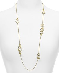 Tory Burch Thames Rosary Necklace 34 Shiny Gold