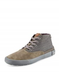 Ben Sherman Percy Fabric Lace Up Boot Gray