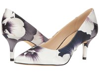 Nine West Margot Black White Pansy Print High Heels Black White Pansy Print