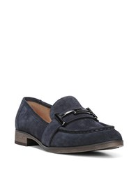 Franco Sarto Baylor Suede Loafers Navy Blue
