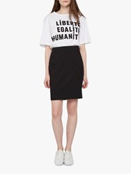 French Connection Street Twill Pencil Skirt Black