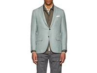 Sartorio Pg Wool Blend Two Button Sportcoat Olive