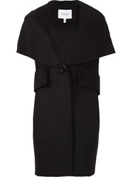 Derek Lam 10 Crosby Sleeveless Shawl Collar Coat Black
