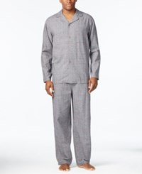 Club Room Men's Tonal Plaid Pajama Set Only At Macy's Tnl Bdy Glnpld