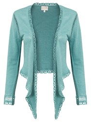 East Linen Tie Front Cover Up Cardigan Celadon