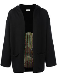 Saint Laurent Sweet Dreams Oversized Hooded Cardigan Black