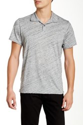 Michael Stars Marble Polo Gray