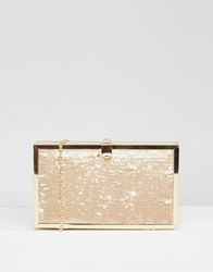 Glamorous Sequin Clutch Bag Gold