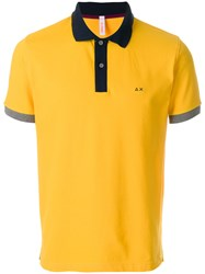 Sun 68 Bicolour Polo Shirt Yellow And Orange