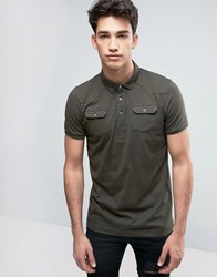 Brave Soul Polo Shirt With Chest Pocket Green
