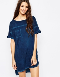 Only Washed Denim Tunic Blue