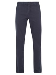 S0rensen Driver Stretch Cotton Twill Chino Trousers Navy