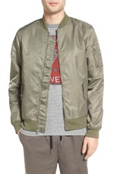 The Rail Men's Nylon Bomber Olive Dark