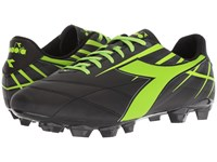 Diadora Forte Md Lpu Black Lime Soccer Shoes