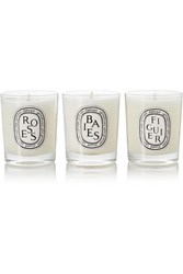 Diptyque Set Of Three Scented Candles Colorless