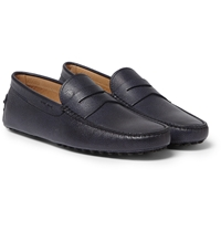 Tod's Gommino Pebble Grain Leather Loafers