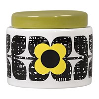 Orla Kiely Scribble Square Flower Storage Jar Sunshine Yellow