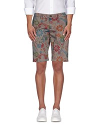 Roberto Pepe Trousers Bermuda Shorts Men Dove Grey