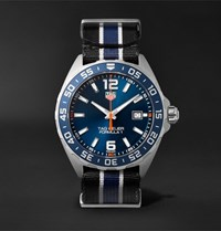 Tag Heuer Formula 1 43Mm Stainless Steel And Nato Webbing Watch Blue
