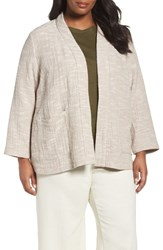 Eileen Fisher Plus Size Women's Cotton Jacket Natural