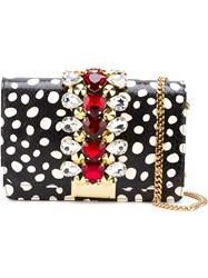 Gedebe Polka Dot 'Cliky' Cross Body Bag Black
