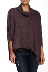 Cecico Cowl Neck Split Back Sweater Purple