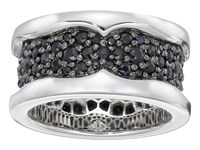 Stephen Webster Rayman Ring Black Sapphires Ring Silver