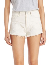 Blank Nyc Cut Off Denim Shorts Off White