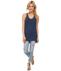 Burton Cedar Tank Dark Denim Women's Sleeveless Navy