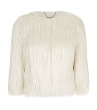 Elie Tahari Carli Faux Fur Jacket Female