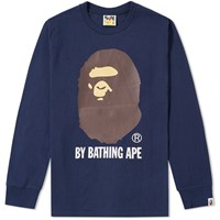 A Bathing Ape Long Sleeve By Tee Blue