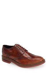 Men's Base London 'Woburn' Leather Wingtip Tan Hi Shine