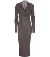 Rick Owens Lilies Wrap Dress Grey