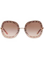 Tory Burch Oversized Frame Sunglasses Pink