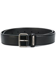 Saint Laurent Buckle Belt Men Leather Brass 105 Black
