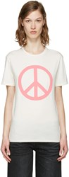 6397 Ssense Exclusive White Peace Ny T Shirt