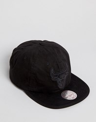 Mitchell And Ness Snapback Cap Pitch Chicago Bulls Black