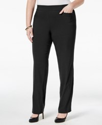 Jm Collection Plus Size Pull On Bootcut Pants Only At Macy's Deep Black