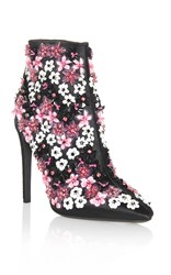Giambattista Valli Embroidered Bootie Black