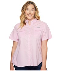 Columbia Plus Size Bonehead Ii S S Shirt Pink Clover Women's Short Sleeve Button Up
