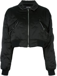 Filles A Papa 'Cory' Bomber Jacket Black