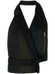 Andrea Ya'aqov Backless Asymmetric Waistcoat Black