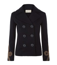 Denim And Supply Ralph Lauren Military Pea Coat Female Navy