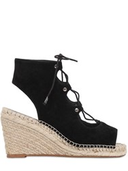 Kg By Kurt Geiger 80Mm Marine Suede Lace Up Wedge Sandals