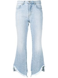 Federica Tosi Frayed Edges Flared Jeans Blue