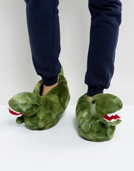 Totes Dinosaur Slippers Black