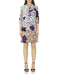 Reiss Jayda Printed Shift Dress Multi