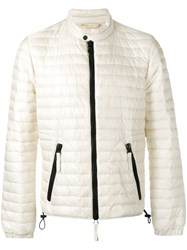 Duvetica Banded Collar Jacket White